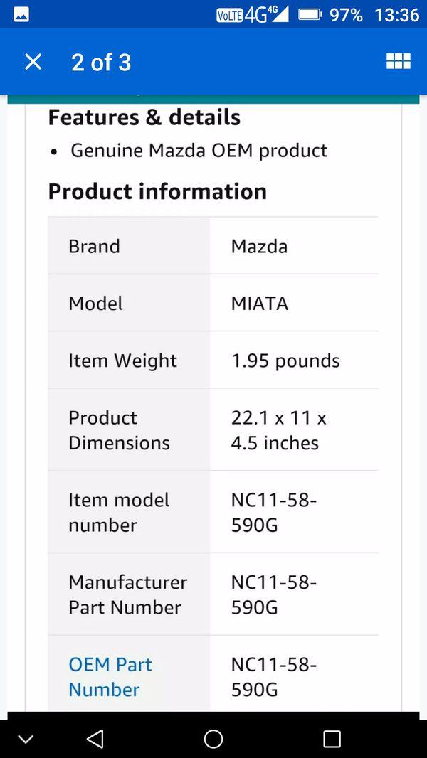 Mazda Miata Window regulator Genuine OEM part