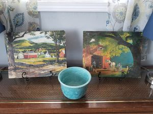 Two very pretty prints at June's Online Consignment Shop like us on Facebook for Sale in Neenah, WI