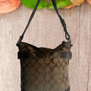 Coach Tote Hobo Shoulder Bag Purse Brown and Tan for Sale in Lancaster, TX