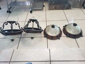 2 DESIGN CEILING LAMPS LIKE NEW for Sale in Hialeah, FL