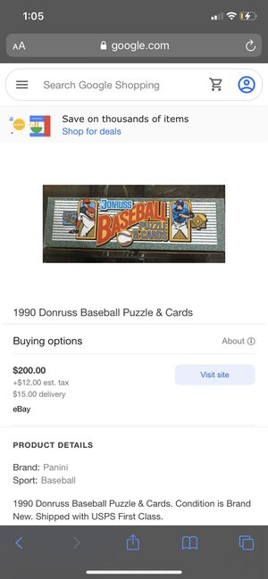 1990 baseball Donrss puzzles and cards for Sale in Langhorne, PA