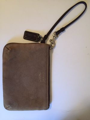 Coach suede wristlet for Sale in Madison Heights, MI