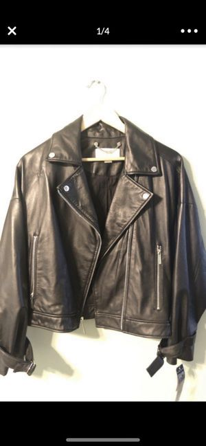 Michael Kors leather jacket for Sale in Irvine, CA