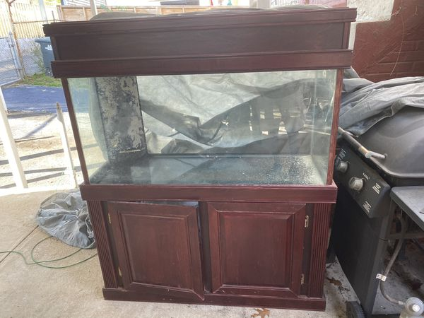 Glass aquarium with cherry wood stand - 80gal