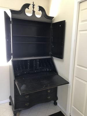 burled bookcase secretary desk for Sale in Los Gatos, CA