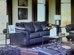 Black Faux Leather Sofa - EZ Cleaning! for Sale in Kittanning, PA
