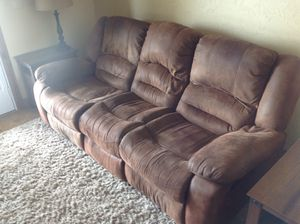 Recliner couch and 2 swivel rockers for Sale in Orondo, WA