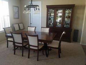 Dining room table, chairs, and hutch for Sale in Surprise, AZ