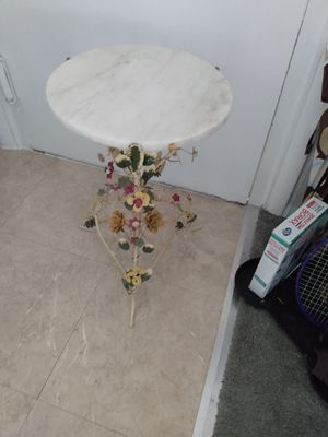Plant stand marble top 14 24 H for Sale in Alexandria, VA
