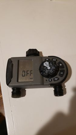 2 outlet hose faucet timer from Orbit to program your sprinkler system for Sale in Natick,  MA