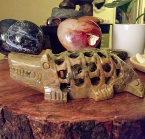 Hand Carved Soapstone Alligator for Sale in Sunnyvale, CA