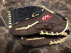 "Rawlings Lefty Baseball Glove 12.5"" RBG36BC Leather Left Hand Throw New for Sale in Carpentersville, IL"