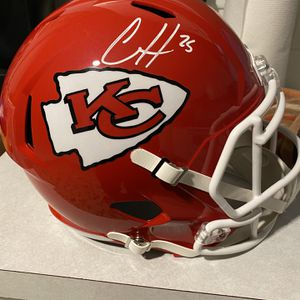 Kansas City Chiefs Clyde Edwards Helaire Signed Full Size Helmet Beckett Certified for Sale in Tarpon Springs, FL