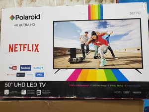 """POLAROID 50"""" LED SMART 4K ULTRA HDTV AVAILABLE. NEW IN BOX for Sale in Los Angeles, CA"""