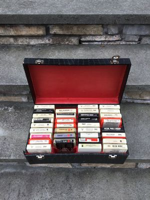 8 track tape collection with case for Sale in Concord, MA