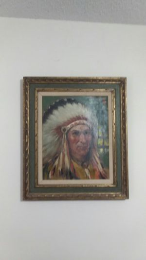 Indian Oil painting for Sale in Avon Park, FL