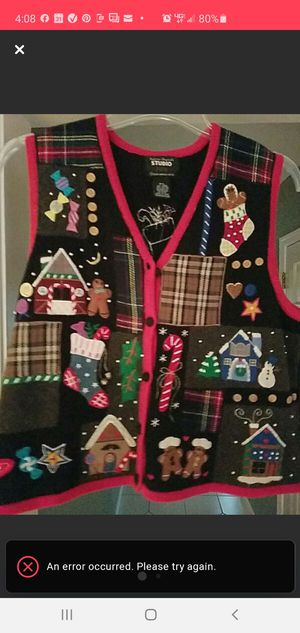 Christmas sweater / Vest for Sale in Hockessin, DE