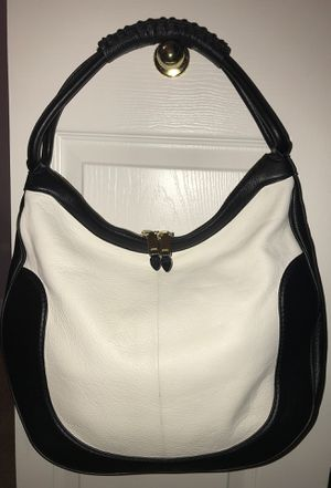 J. Crew Black and Off-White Hobo Purse Bag for Sale in Tampa, FL