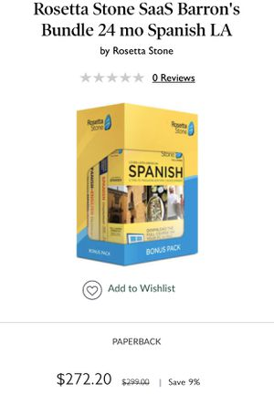 Rosetta Stone Spanish (New) for Sale in Trinity, NC