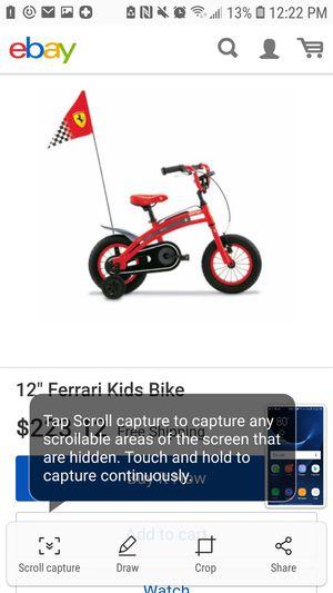 Ferrari kids bike for Sale in Columbus, OH