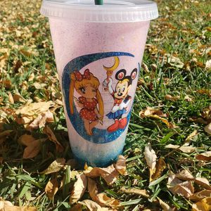 Sailor Moon And Minnie Mouse Starbucks Tumbler Cup for Sale in Bellflower, CA