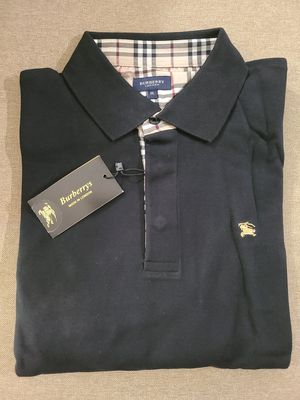 Burberry mens long sleeve polo shirt, black size XXL for Sale in Tamarac, FL