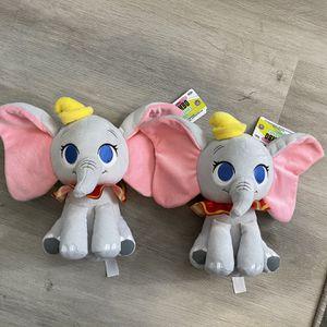 "Lot Of 2 Disney Dumbo the Elephant Plushies 10"" Plush Toy Stuffed Animal NWT for Sale in Las Vegas, NV"