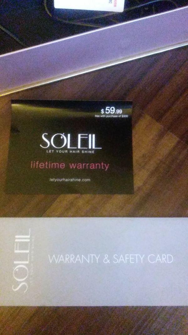 Soleil rose gold hair straightener/curler