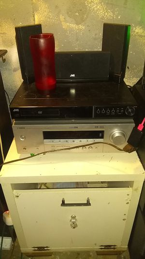 Yamaha receiver, Bose acoustomast powered subwoofer,Fisher home speaker set, JVC surround sound speakers for the a/b channel for Sale in Kansas City, MO