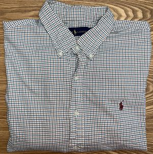 Ralph Lauren Men's Plaid Button Down Dress Shirt XLarge for Sale in Grand Rapids, MI