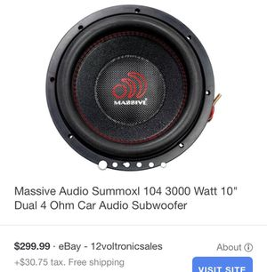 Massive subwoofer w/ box and AMP for Sale in Paramount, CA