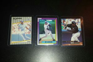Bo Jackson Fleer & Topps Cards Bundle NM for Sale in Antioch, CA
