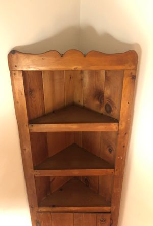 Fabulous Hand-Carved 6 Ft. Solid Wood Corner Cabinet -- Wood Shelf -- Amish Made Dining Hutch for Sale in Philadelphia, PA