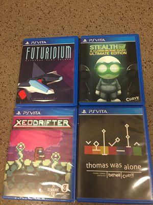Limited Run PS Vita Games w/ Card and stickers for Sale in Shoreline, WA