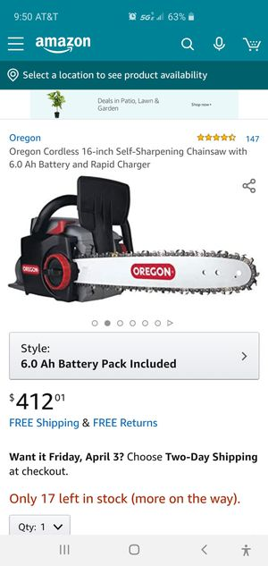 Cordless chainsaw for Sale in Milpitas, CA