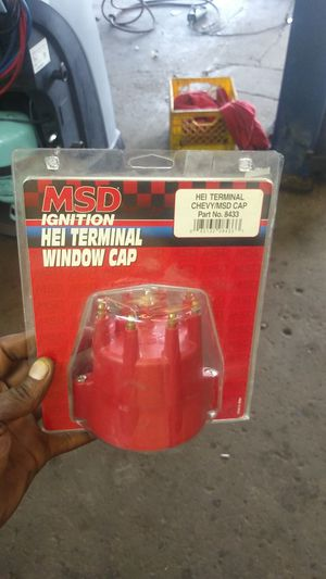 I have a MSD ignition no terminal cap part number 8433 Chevy cap make offer open for trades I have two caps in stock for Sale in Florissant, MO