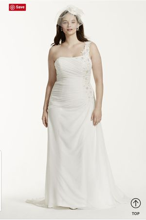 One Shoulder Chiffon Plus Size Wedding Dress for Sale in Columbia, SC