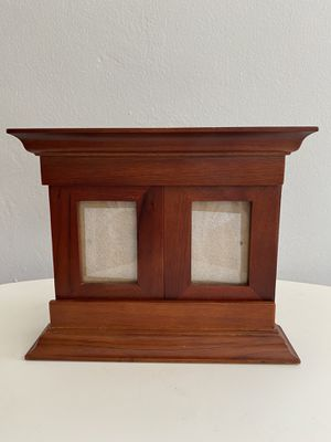 Photo frame for up to (3) pics in mahogany stain for Sale in Miami Shores, FL