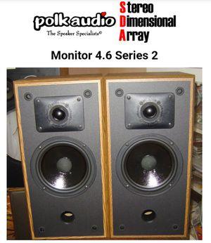 POLK AUDIO STUDIO MONITOR SPEAKERS for Sale in Portsmouth, VA