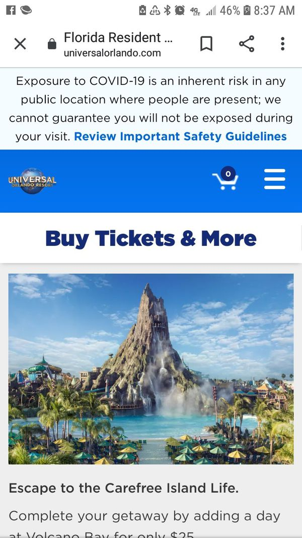 I need Universal Park to Park tickets