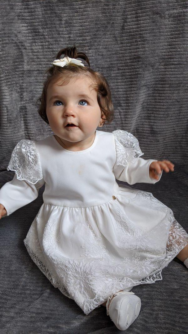 Baptism flower girl dress 12 m