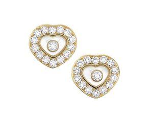 """Fabulous CHOPARD """"HAPPY DIAMONDS"""" Heart Gold Studs Earrings """"HAPPY DIAMONDS"""" for Sale in Miami Beach, FL"""