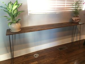 Rustic wood sofa table for Sale in Denver, CO