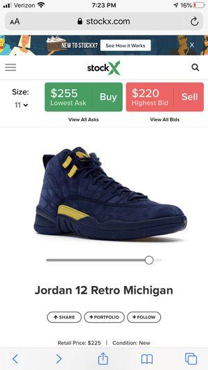 Jordan Retro 12s Michigan size 11 for Sale in Mundelein, IL