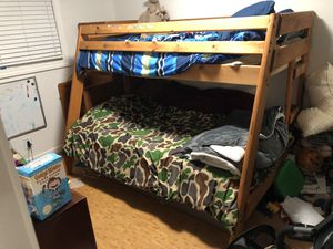 Coaster Wrangler Hill bunk Bed Twin over Full Bed with stairs for Sale in Fremont, CA