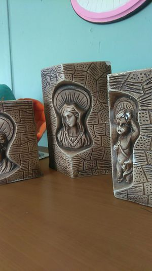 Set of 3 Vintage Religious Beautiful Candle Holdera for Sale in El Paso, TX