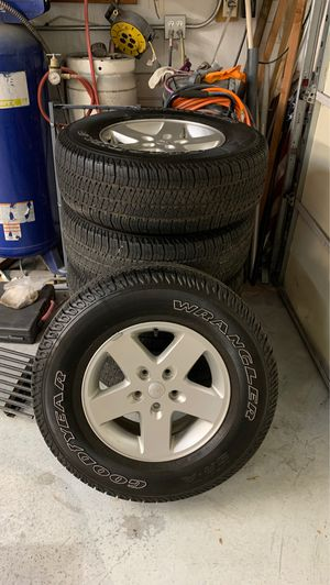 Wheels and tires off Jeep Wrangler for Sale in Tempe, AZ