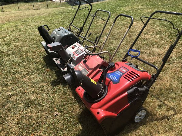 SnowBlowers for sale as a lot.