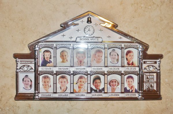 NEW K through 12 school photo frame