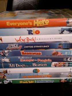 Lot of 10 Kids DVDs Popular for Sale in Belle Isle,  FL